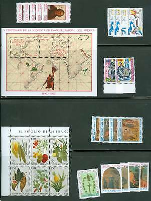 Vatican City 1992 Compete MNH Year Set