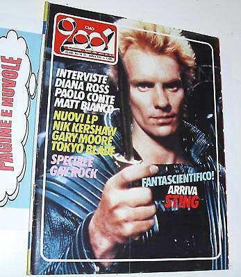 CIAO 2001 n 51 '84 cover  + posters STING