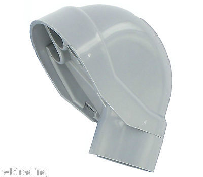 """2"""" PVC-40 Gray Weather Head 2 Piece Molded Construction"""