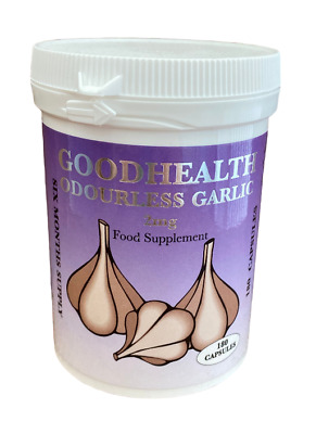 Odourless Garlic(Capsules) 12 Months supply.FREE UK POST (P)