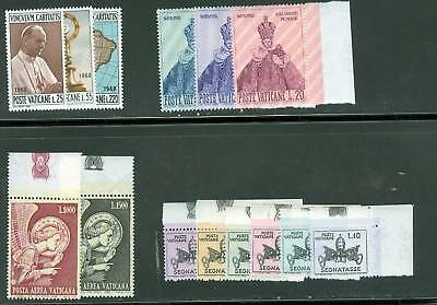 Vatican City 1968 Compete MNH Year Set