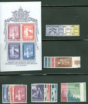 Vatican City 1958 Compete MNH Year Set