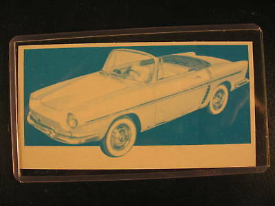 1961 Topps Sports Cars Original PROOF Card Renault