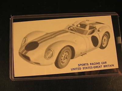1961 Topps Sports Cars  PROOF Card Sports Racing Car