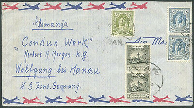 JORDANIA TO GERMANY Old Air Mail Cover VF