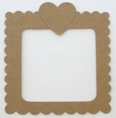 "3 5//8/"" x 4 1//4 {4} *FRILLY SCALLOP FRAME* Picture Frames Chipboard Die Cuts"