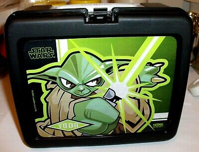 Star Wars-Yoda`Plastic Lunchbox & Juice Bottle`New-With Papers-:>Free To US