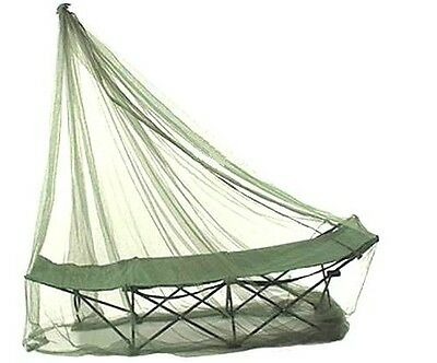 SINGLE MOSQUITO NET compact travel camp bed midge bug insect cover Army olive