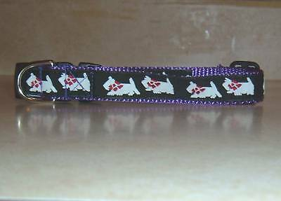 Westie Collar Purple Traditional Free Ship Usa