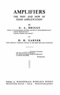 Amplifiers: The why and how of good amplification * CDROM * PDF