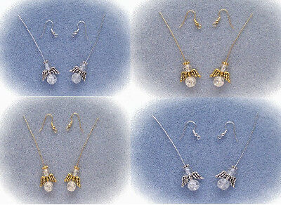 Angels Earring Kit Bead Jewelry Making Supplies Silver Gold With Instruction