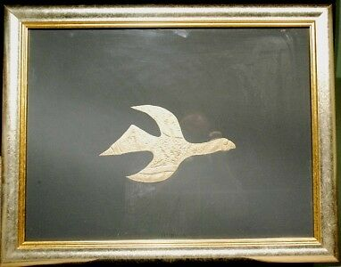 Georges Braque two framed matched gold leaf impressions