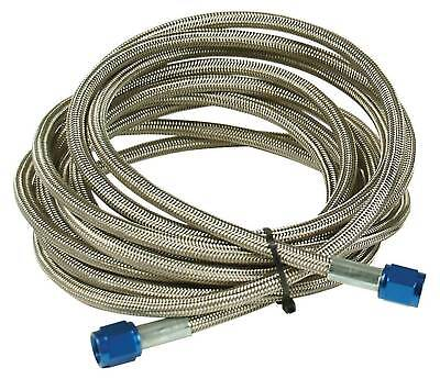 Nitrous Delivery Line, -4an x 14ft Blue - Teflon Core Stainless Steel- Universal