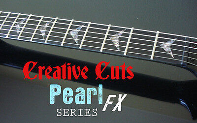 V Custom ABALONE Fret Markers Inlay Sticker Decal for ANY BASS and GUITAR