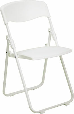 Lot of 24 White Lightweight Steel Frame Folding Chairs