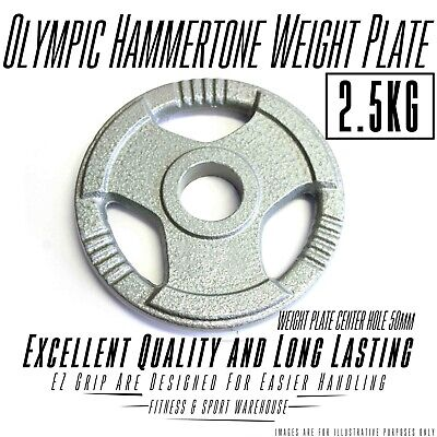 Easy Grip 2.5Kg Olympic Hammertone Weight Plate/ Plates Weightlifting Exercise