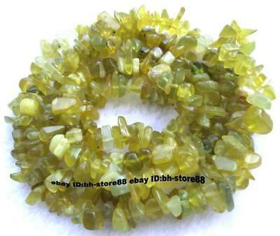 5-10mm Natural Jade chips baroque Beads 34''