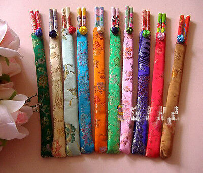 Wholesale100pairs Chinese Classic Bamboo Chopsticks With Silk Cover