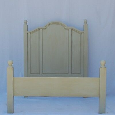 English Farmhouse Bed Full Size Cottage Style 15 Country Chic Paints Wood Stains