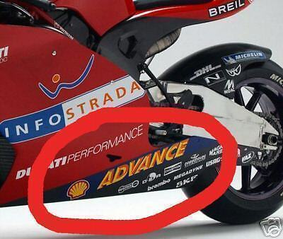 Pair  Shell Advance Belly pan sticker decal