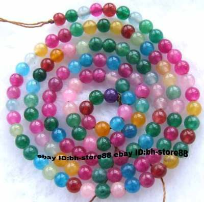 3mm multicolour Jade Round gemstone Beads 15''