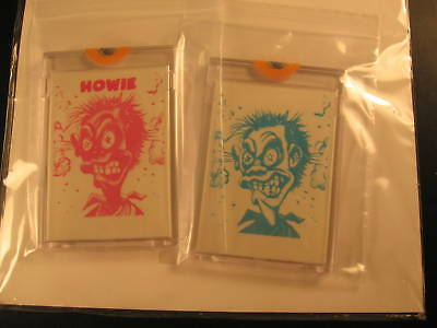 1966 Topps Slob Stickers (2) Proof Howie