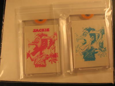 1966 Topps Slob Stickers (2) Proof Jackie
