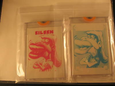 1966 Topps Slob Stickers (2) Proof Eileen