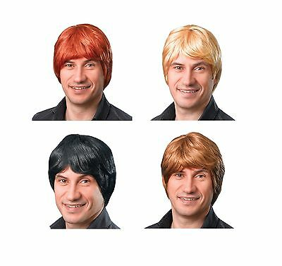 70's Boy Band Wig Ginger / Blonde / Black / Brown Fancy Dress