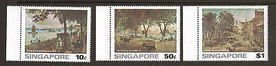 Singapore Sc 254-256 MNH. 1976 Paintings complete, VF