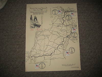 General Herkimer Counil poster with postal cancellation, Adam Helmer Run