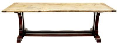 19Th Century Refectory Pine Table With Painted Base