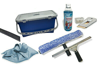 WINDOW CLEANING SET WITH 22 LITRE BUCKET 9 ITEMS - Window Cleaning Equipment