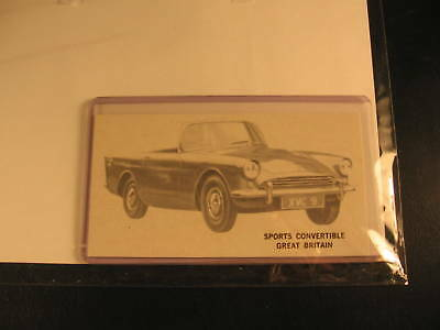 1961 Topps Sports Cars Proof Card Sports Convertible
