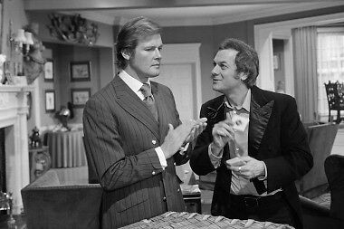 The Persuaders Roger Moore Tony Curtis Candid Photo