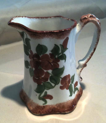 Cash Family Pottery Earthy Floral Pitcher/Creamer