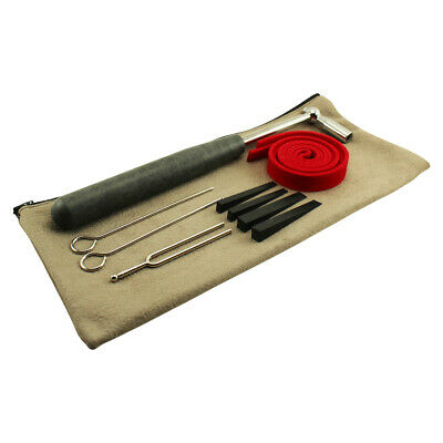 Professional Piano Tuning Kit w/Hammer, Mutes & Fork