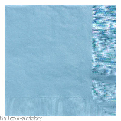 20 BABY BLUE 33cm Paper Napkins Serviettes Birthday Wedding Party Catering