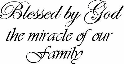 Bless By God Family Wall Art Decor Vinyl Decal Sticker