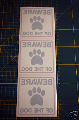 3 Beware Of The Dog Stickers