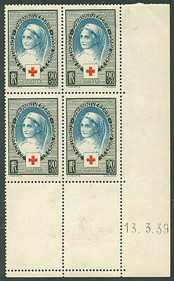 FRANCE RED CROSS COINS Yvert # 422 - MNH and MH - VF