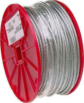 """Campbell  3/16"""" X 250Ft Roll Galvanized Aircraft Steel Rope Cable 6419378"""