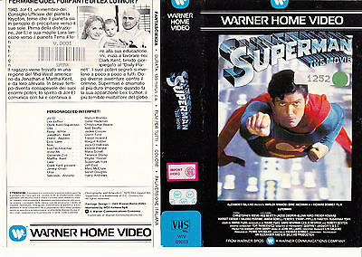 Superman The Movie (1978) Vhs