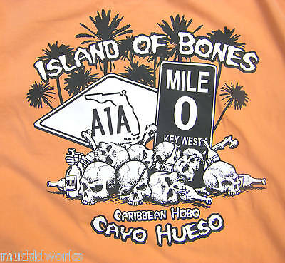 XXL XXXL Caribbean Hobo T-shirt Key West Island of bones Havana Cuba beach