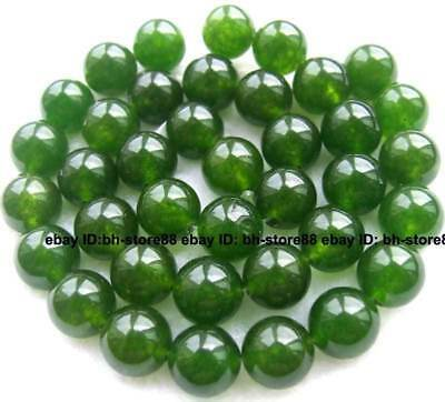 10mm Green Jade Round gemstone Beads 15''