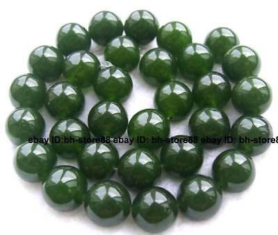 12mm Green Jade Round gemstone Beads 15''