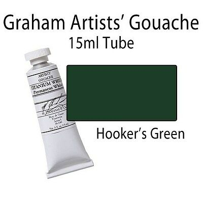 M. Graham Artists' Gouache Hooker's Green  15ml Tube 36-108