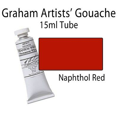 M. Graham Artists' Gouache Naphthol Red Spectrum  15ml Tube 36-120