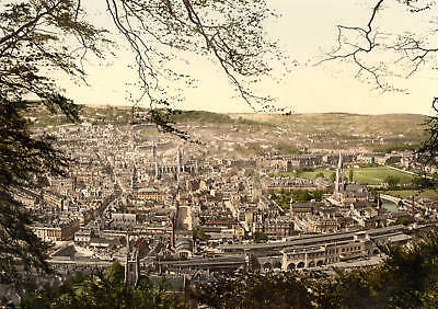 Large Old Photograph / Photo Of Bath