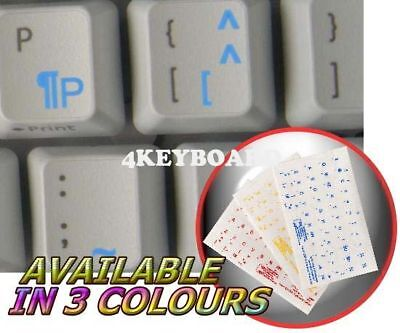 French Qwerty Transparent Key Sticker Blue